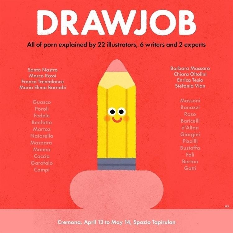 poster exhibition DRAW JOB, fam - maurogatti | ello