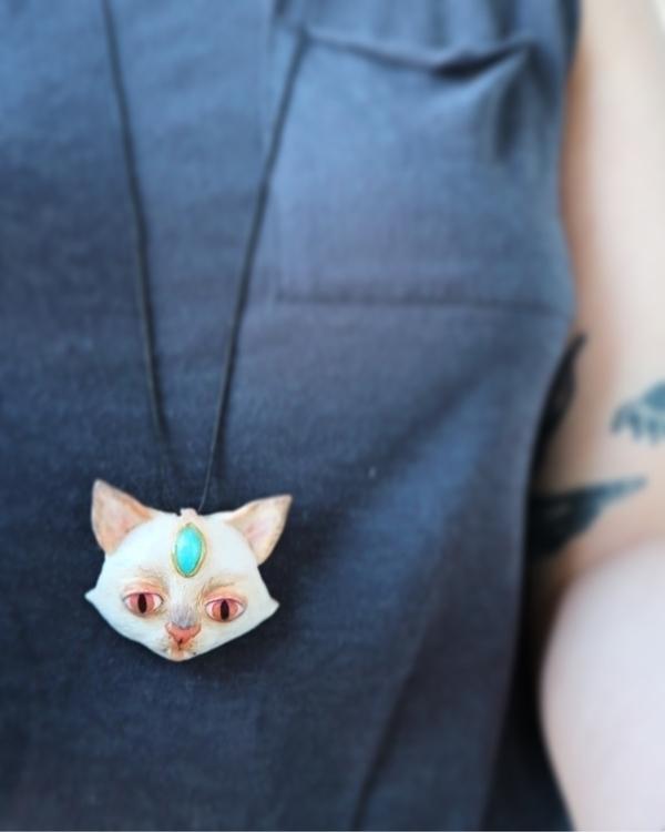 store ! Cat pendant fimo clay.  - skeenep | ello