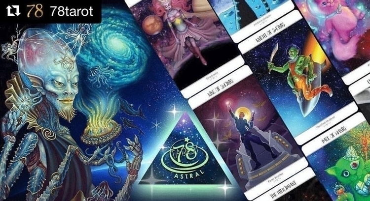 launched!!! 78 Tarot Astral Kic - tigerpixie | ello