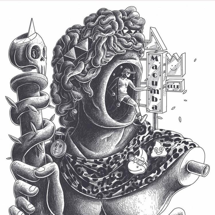 Macumba club detail artist - talltreesofparis - helliongallery   ello
