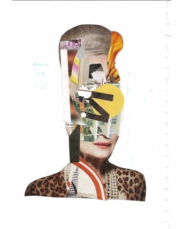 Julie - Handmade collage - portrait - manuduf | ello