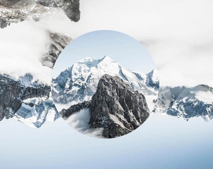 Upside (2016 - collageart, photography - gloriasanchez | ello