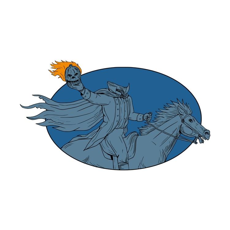 Head Horse Oval - Headless, Horseman - patrimonio | ello