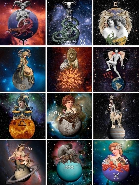 Zodiac Signs (Collage 2017 - collageart - gloriasanchez   ello