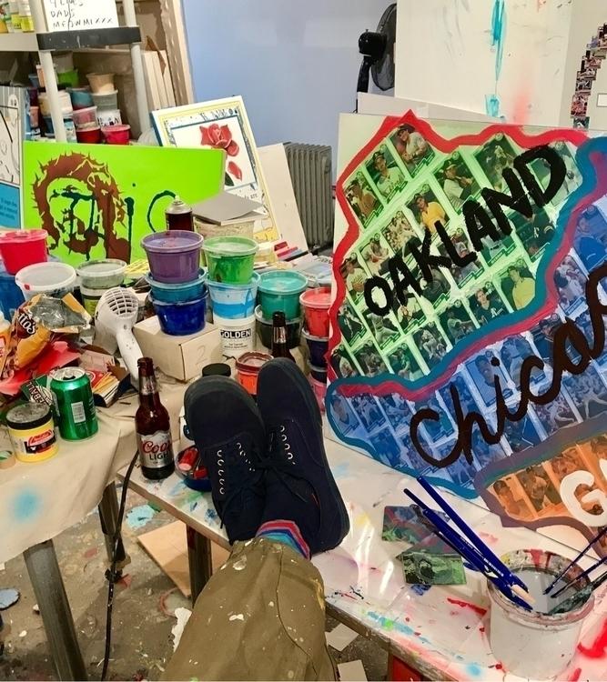 shoes painting - melad, studio, wip - enmelad | ello
