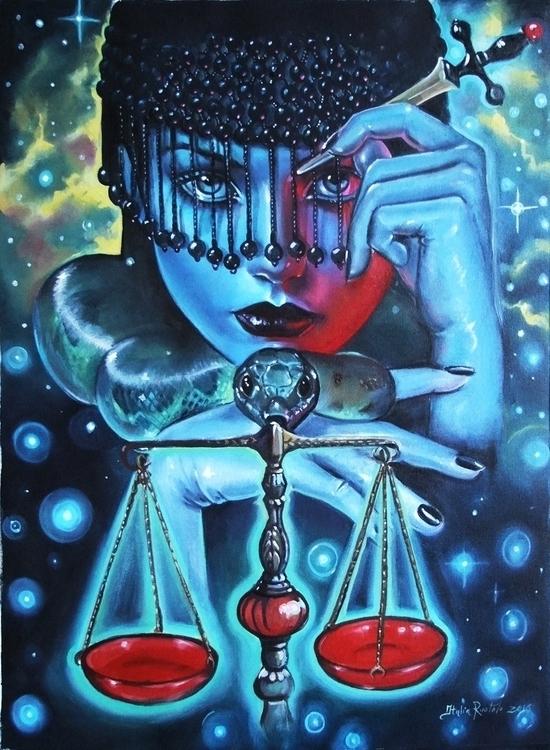 JUSTICE contribution 78 Tarot A - italiaruotoloart | ello