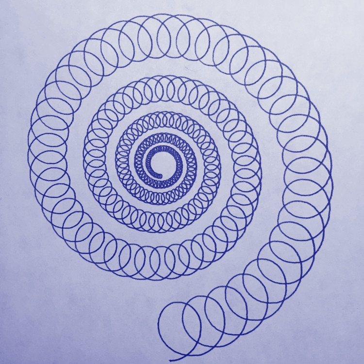 obligatory harmonograph spiral - ren0h | ello