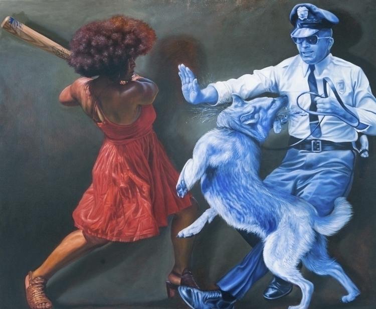 Mario Moore Black Blue, 2016 Oi - blackartmatters | ello