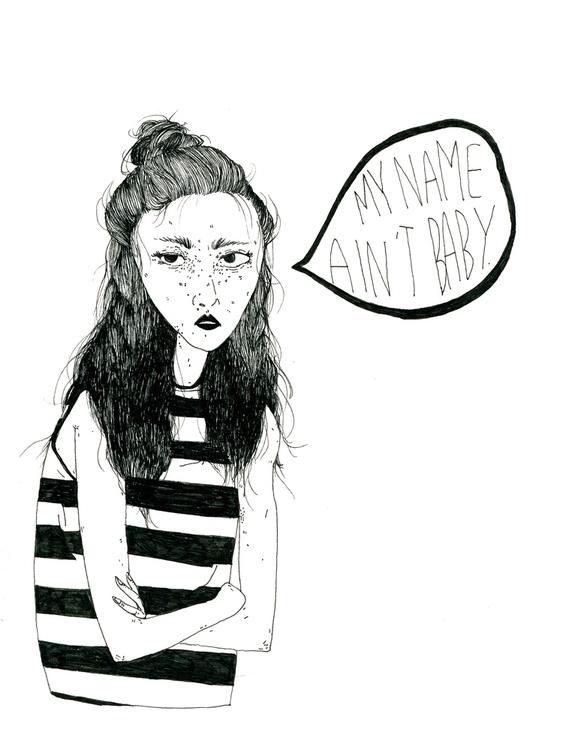 illustration, ink, drawing, feminism - mitsubishiufjfinancial   ello
