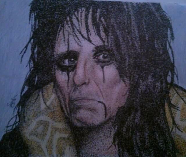 Alice Cooper, pointillism style - thatdotgirl | ello