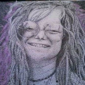 Janis Joplin pointillism print - thatdotgirl | ello