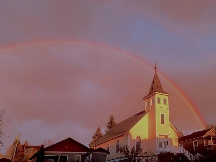 church home, illuminated sunset - dave63 | ello