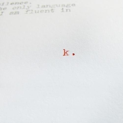 Limited edition typewritten poe - kashyapi | ello