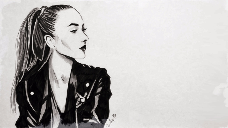 ink, portrait, portraitart, art - onevisionart | ello