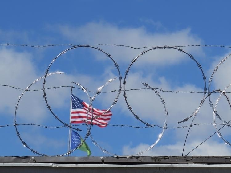 Razor wire frames flag symboliz - dave63 | ello