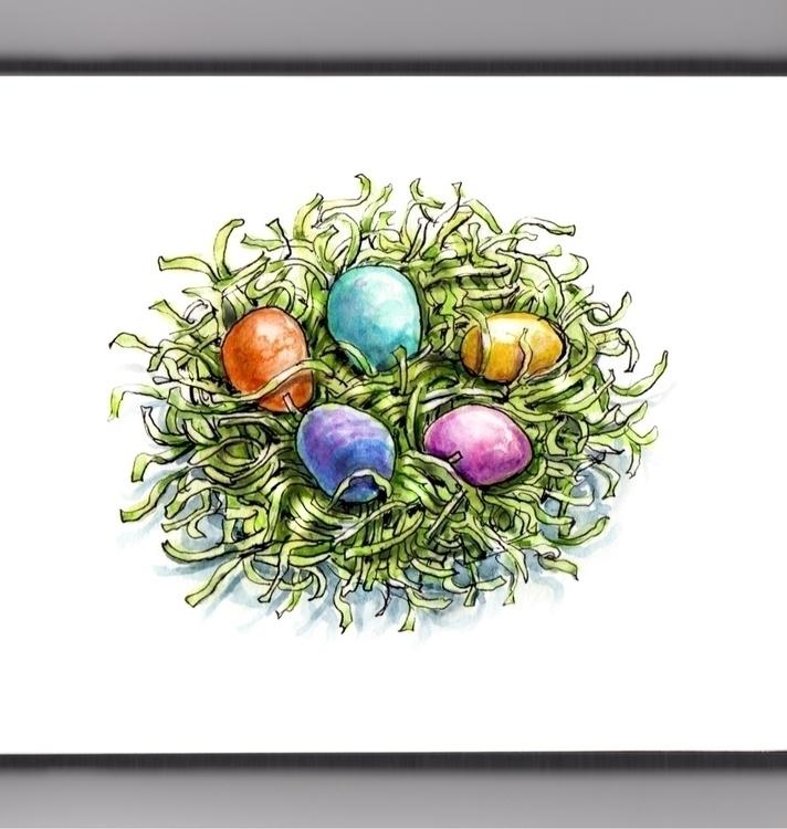 Painting Easter Eggs - watercolor - doodlewash | ello
