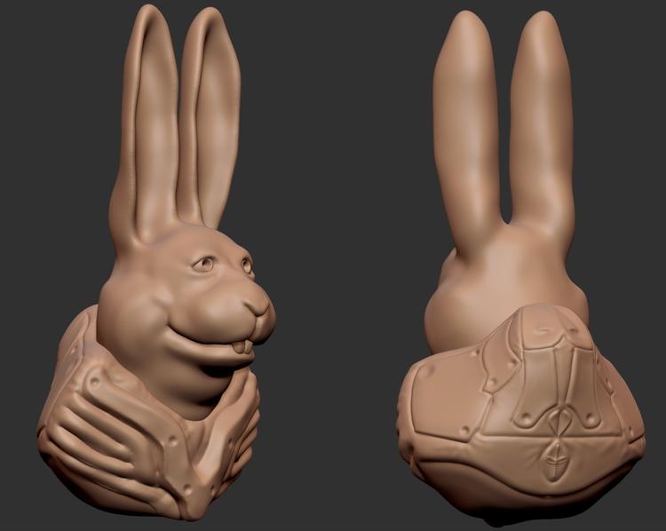 Happy Easter Space Bunny - digitalsculpt - mrpopcornbag | ello