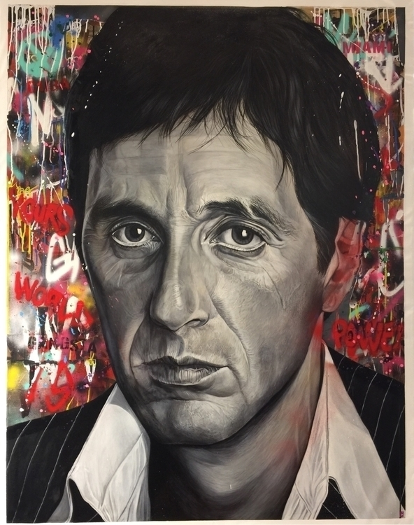 alpacino, scarface, miami, artwork - christian-charriere | ello