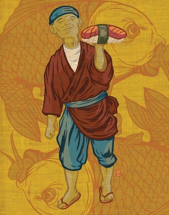 Super Big Sushi 2 - illustration - thomcat23   ello