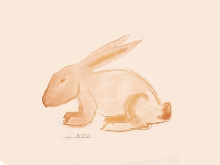 Rabbit Sketch - rabbit, sketch, digitaldrawing - iquitoz | ello