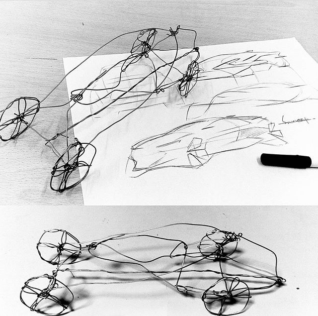 Sketches Wire Models ! - nifty  - letsdesigndaily | ello