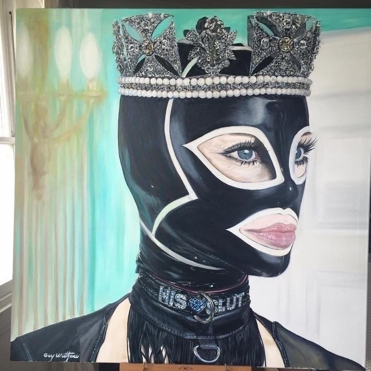 QUEEN - Oil canvas. 3 English m - guywilthew | ello