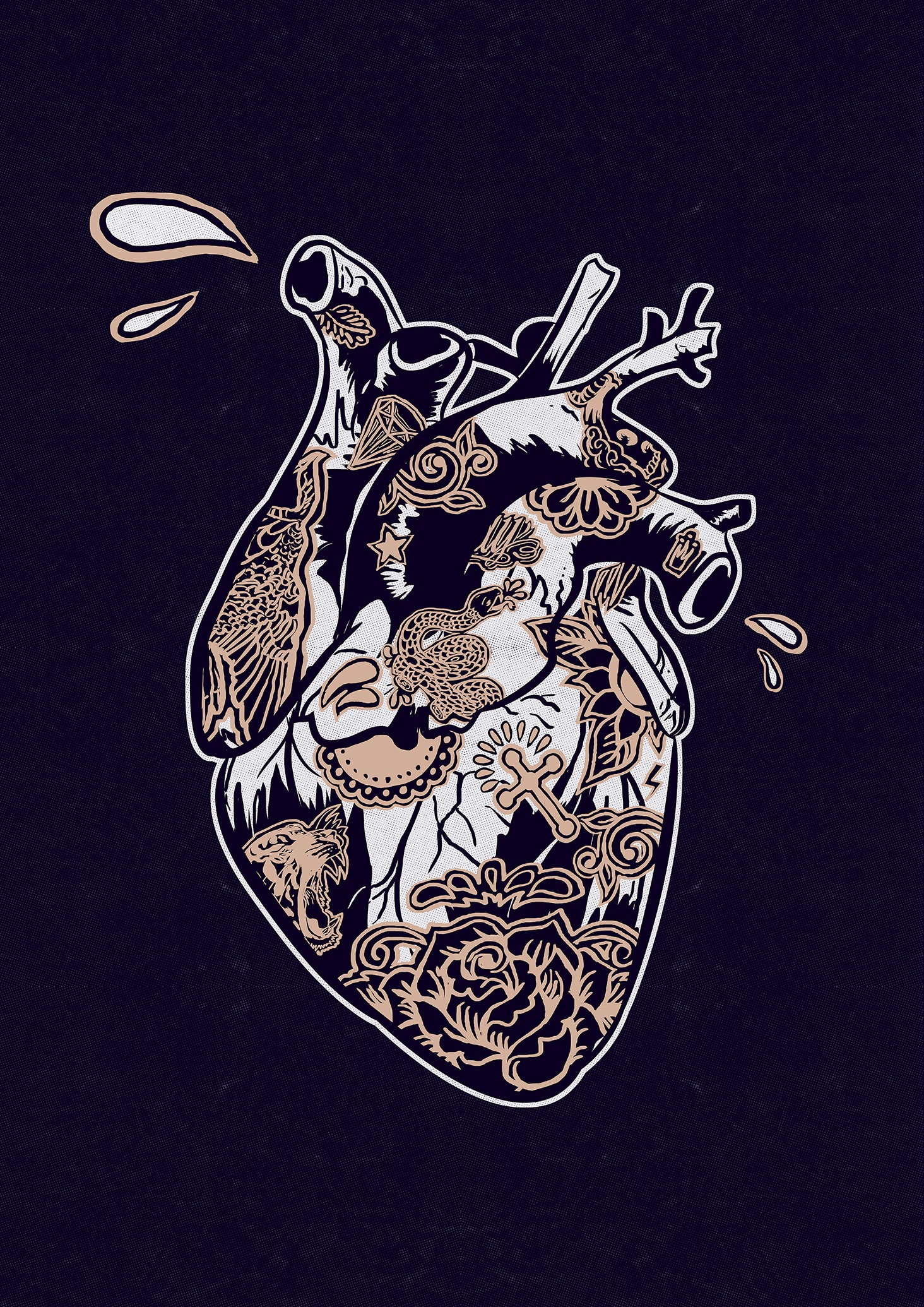 Black heart - illustration, justblack - justblack | ello