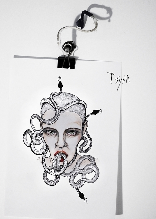 sketch, tattoosketch - tsyna | ello