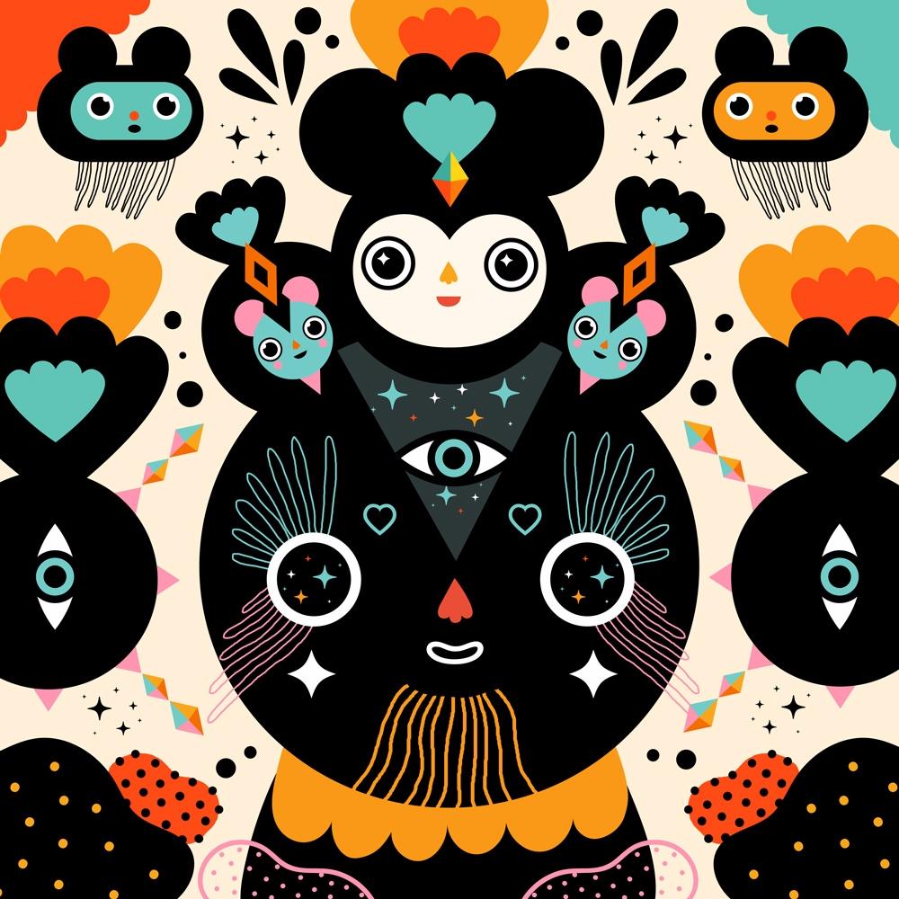 Sparkly eyes - illustration, muxxi - muxxi | ello