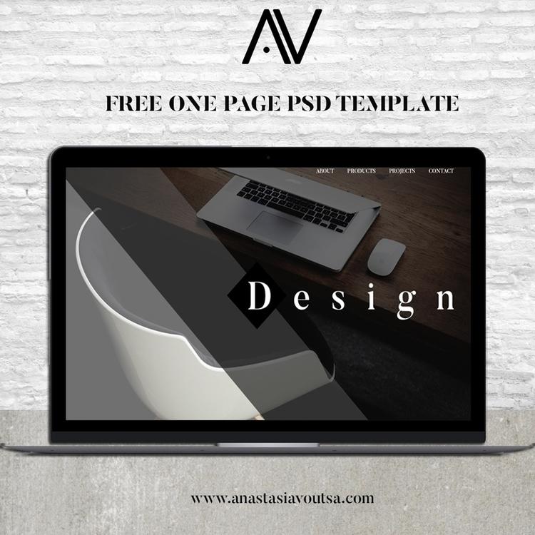 Free .psd page design template  - anastasiavoutsa | ello