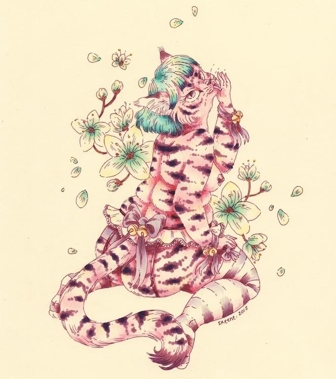 Sakura Cat - japan, pet, kitty, kitten - skeenep   ello
