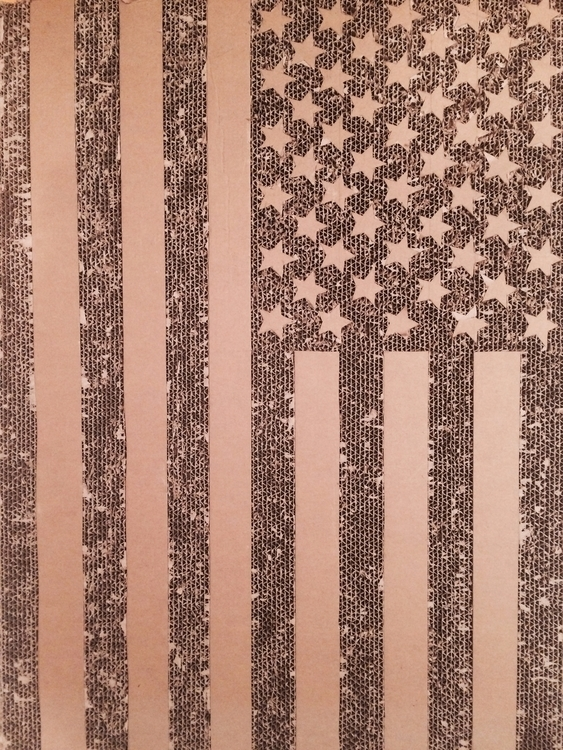 Gregory Joveniaux - flag, usa, cardboardart - particulescreatives | ello