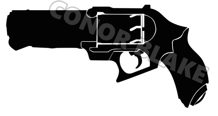 Drawing gun. Color inbound - zabi | ello