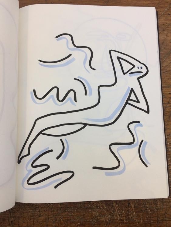 Classic nude - illustration, marker - mitsubishiufjfinancial   ello