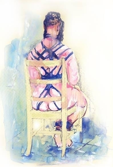 Aquarelle@Art@painting@nakedwom - poespas | ello