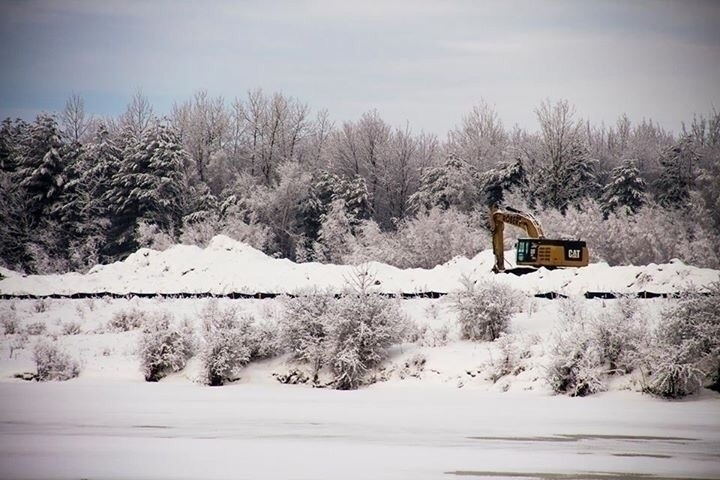 long - Spring, snow, tractor, forest - authorcrmisty | ello