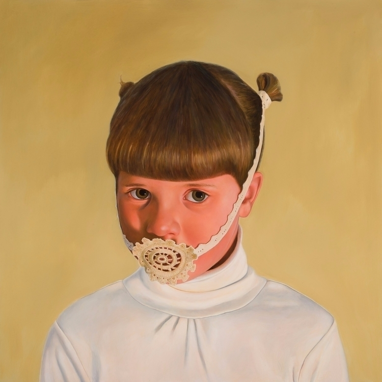 Bridle, 2013, oil board, 100 cm - rebeccahastings | ello