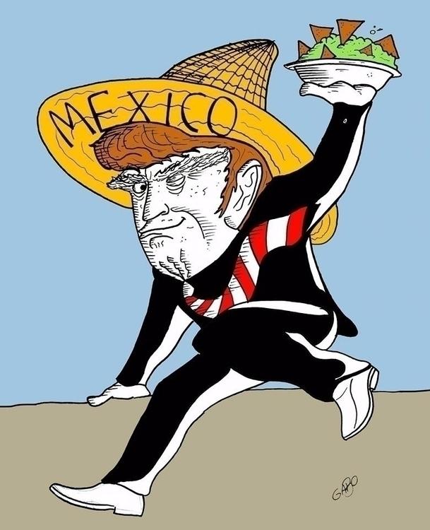 Mexican Trump - TRUMP, illustration - gabo_jurgensen | ello