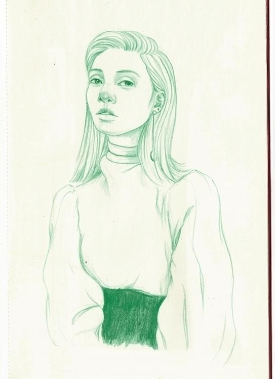 green - doodle, drawing, moleskine - j0eyg1rl | ello