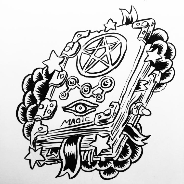 book - spellbook, ink - royallyeric | ello