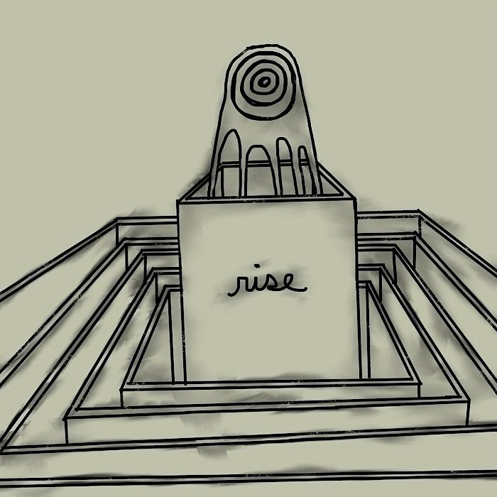 rise - temple, fireball, minimalism - catswilleatyou | ello