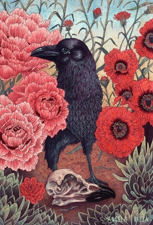 'Crow Effigy' Angela Rizza - angelarizza - wowxwow | ello