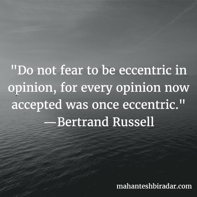 Quotes, QOTD, Fear, Eccentric - dailyinspiration | ello