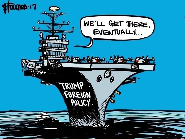 Wrong Turn - illustration,, political, - sstoddard | ello