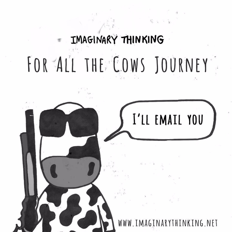 cows Stay tuned - illustration, forallthecows - imaginarythinking | ello