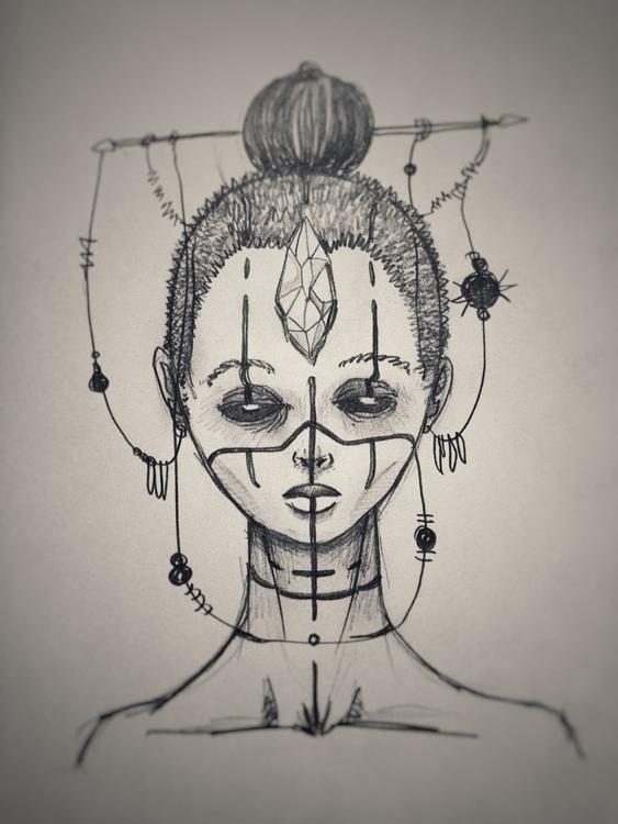Astral - illustration, quicksketch - fretz   ello