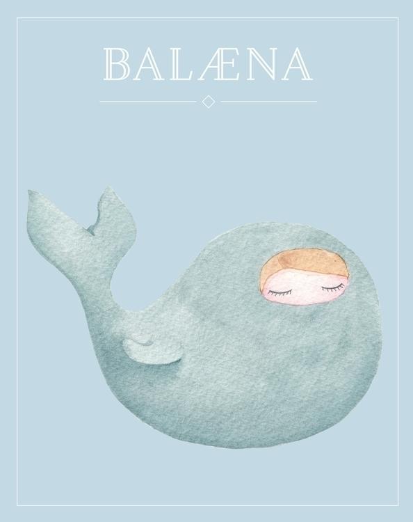 Whale - illustration, design, watercolor - almasoderlind | ello