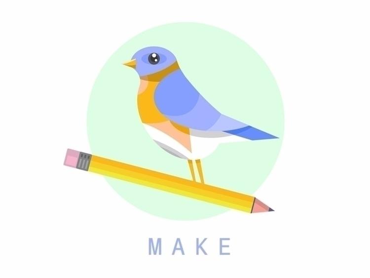 Put bird - pencil, vectorart, illustration - mikemcleod | ello