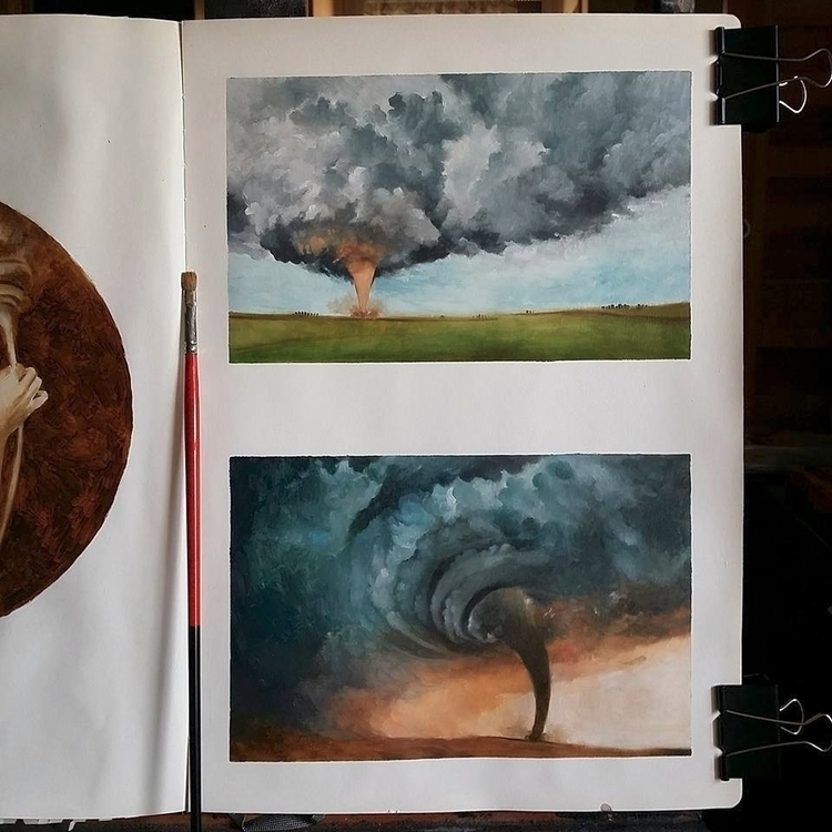 Quick tornado studies paintings - ania_tomicka | ello