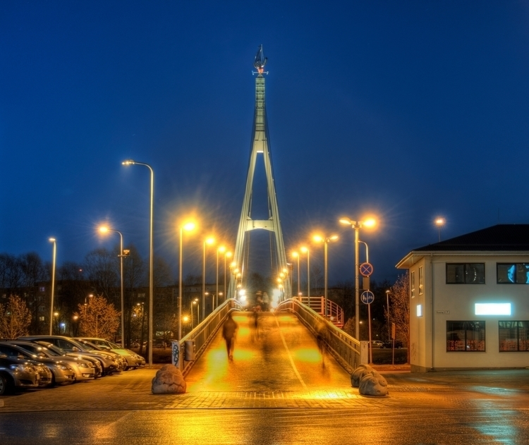 Tartu Bridge - footbridge river - neilhoward | ello